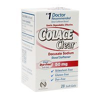 Colace Clear Soft Gels Stool Softener 28 ea ( Pack of 2)