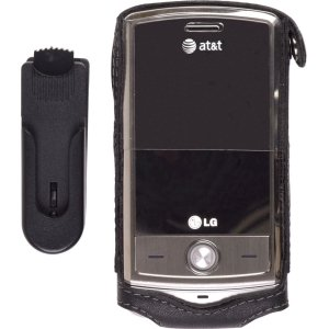 LG Shine CU720 Leather Case with Hook & Clip