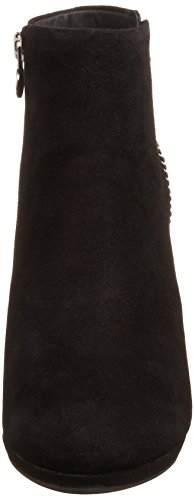 Geox D KALI - botas de caño bajo de cuero mujer negro - negro