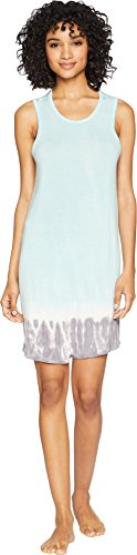 PJ Salvage Women's Sleepwear Lounge Chemise, Tropicana Tie-Dye Mint, Medium (Jersey Pj Salvage)