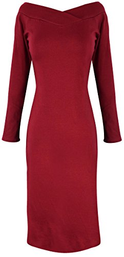 Peach Couture Bodycon Bodice Slim Fit Evening Dress (Small, Maroon) (Couture Jersey Gown)