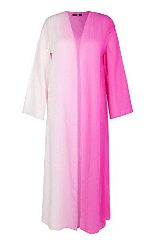 7af2c8ed390 Boohoo Womens Plus Size Becki Ombre Maxi Beach Kimono in Purple size 18