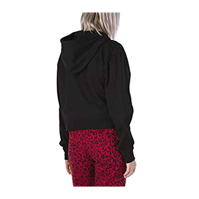 Vans Half Blast Crop Women's Checkerboard Black/Pink Full Zip Hoodie Size S at Women's Clothing store