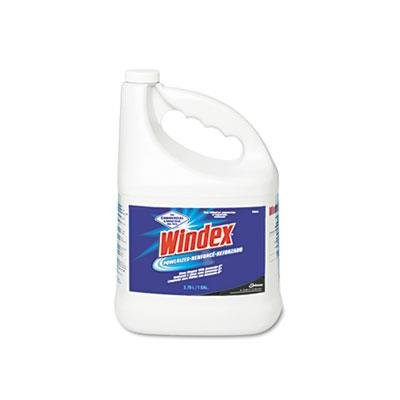 Windex Glass Cleaner Refill, 1 Gallon, 4/CT, Sold as 1 carton