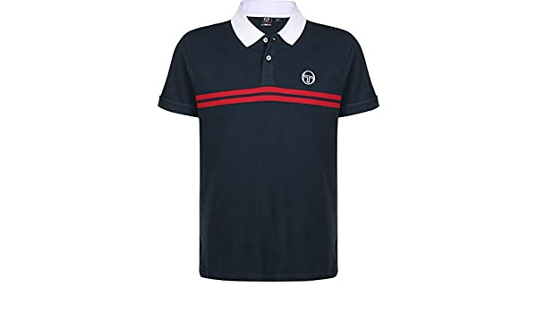 Sergio Tacchini Supermac Polo Navy/Red: Amazon.es: Ropa y accesorios