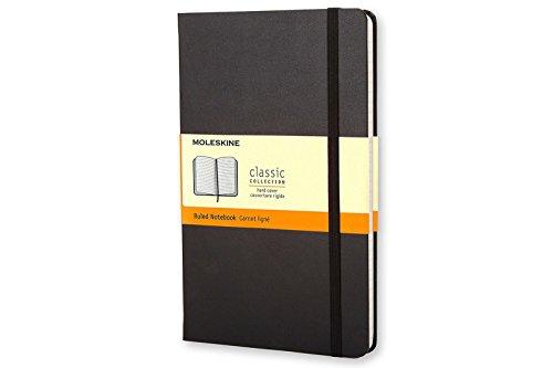 Moleskine Classic Notebook  Large  Ruled  Black  Hard Cover  5 X 8 25   Classic Notebooks