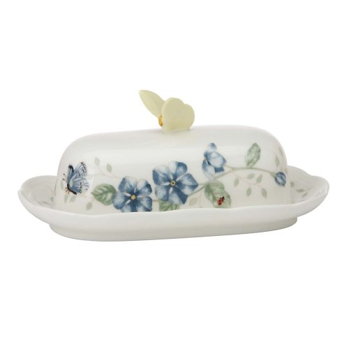 Lenox Butterfly Meadow Oblong Covered Butter Dish by Lenox