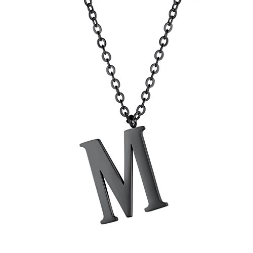 PROSTEEL-Initial-Letter-NecklaceAlphabet-Name-JewelryMenWomenPersonalized-Groomsman-Bridesmaid-GiftWedding-Minimalist-Bridal-Party-Graduation-GiftStainless-Steel18K-Gold-Plated