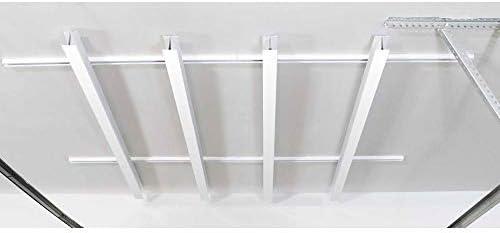 SAM 84 x 78-Inch Multi-Channel Adjustable Tote Slide Overhead Garage Storage Rack
