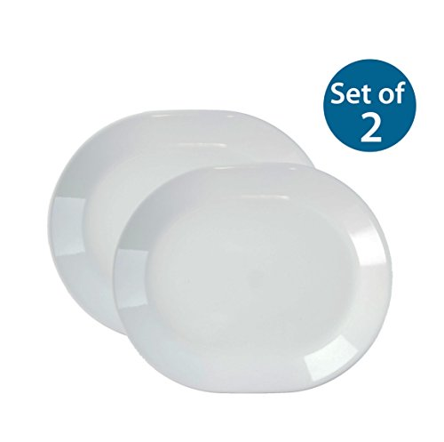 Corelle Livingware 12-1/4-Inch Serving Platter, Winter Frost White (Winter Frost White x2)