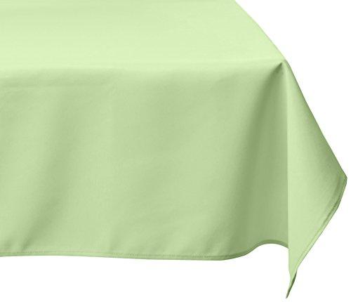 LinenTablecloth 60 x 126-Inch Rectangular Polyester Tablecloth Tea Green - Rectangular Green