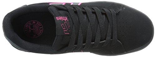 LS Pink da Pink EtniesFader Donna Skateboard Scarpe Negro Black z6CW4Bnq