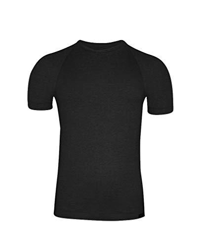 Corta Egipcio Manga Camiseta Algodón Zd Negro De OSESqP