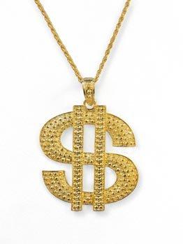 1ffb282ec6c2d Wilbers Karnaval - Cadena con símbolo del dólar para disfraz (tamaño  grande)