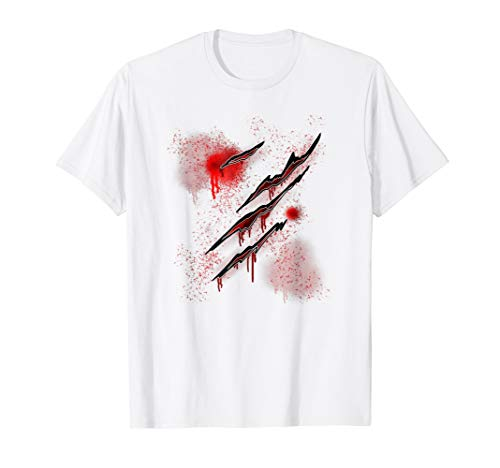 (Blood Splatter Ripped Claw Scary Halloween T)
