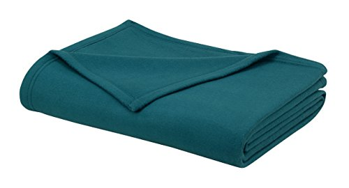 Cotton Craft - 100% Soft King Polar-Fleece Thermal Blanket Teal - (113 by 90 Inches) - Extra Soft Brush Fabric, Super Warm Bed Blanket, Lightweight Couch Throw Blanket, Easy Care (Pier One Blanket)