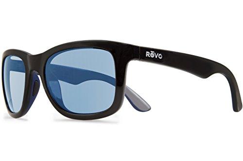 Revo Huddie RE 1000 01 BL Polarized Wayfarer Sunglasses, Matte Black/Blue/Gre, Blue Water, 54 - Sunglasses Mesa