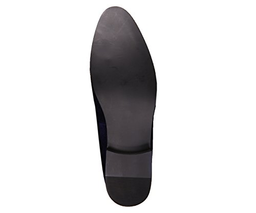 Mens with Abrams Embossed Smoking Black Tassel Amali Style Vertical Navy Slipper Velvet dqY1wpSxg