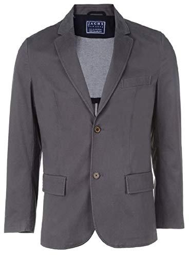 Jachs Men's Cotton Stretch Sateen Bowie Blazer Large Charcoal