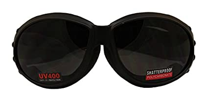 2400D025 Global Vision Unisex-Adult Sunglass Grey//Black, Large//Size 12