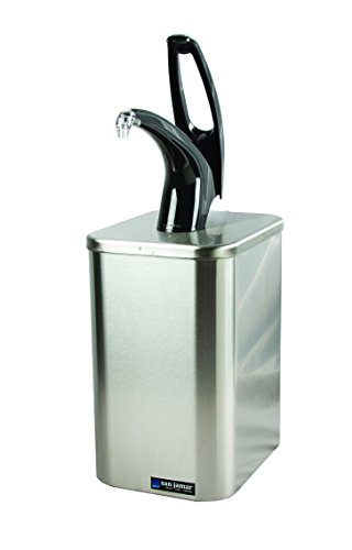 San Jamar P4900 Stainless Steel FrontLine Countertop Box System with Condiment Pump, Black by San Jamar (Image #1)