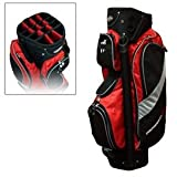 ProSimmon Golf 14 Way Divider Cart Bag Red & Silver [Sports]