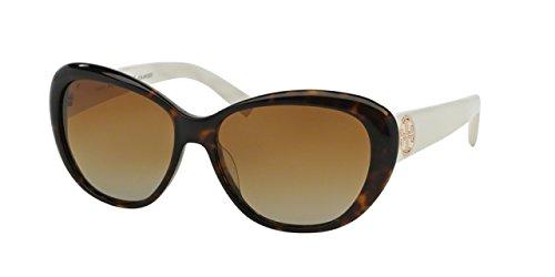 Tory Burch Tory C03 Sunglasses TY7005 1327T5-56 - Dark Tortoise/ivory Frame, Brown Gradient