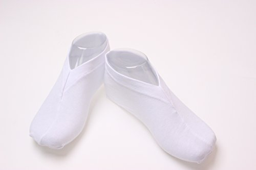 Generic White Cotton Leightweight Moisturizing Cosmetic Foot Socks Perfect to Keep Feet Hydrated and Smooth (Pack of 100 Pairs) by Generic