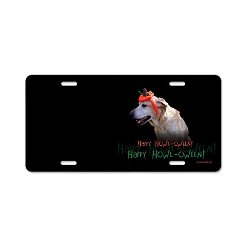 YEX Abstract Holiday Halloween Dog6 License Plate Frame Car Licence Plate Covers Auto Tag Holder 6