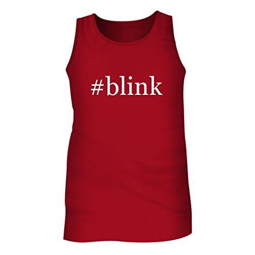 #Blink - Men's Hashtag Adult Tank Top, Red, Small
