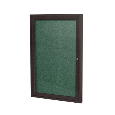 1 Door Outdoor Enclosed Bulletin Board Size: 3' H x 2' W, Frame Finish: Satin, Surface Color: Silver by Ghent
