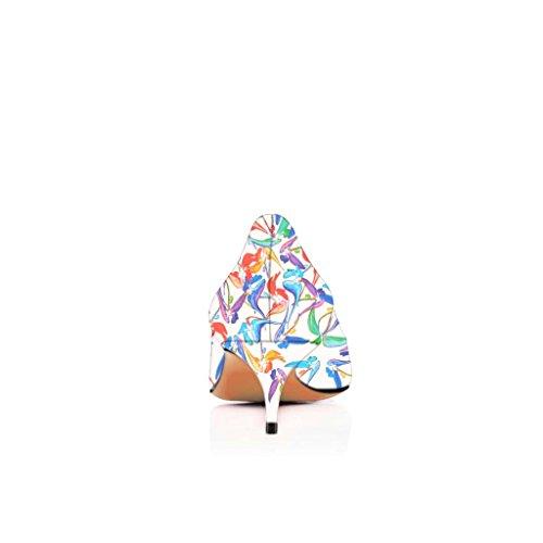 Tacchi Con 15 Scarpe Fsj Pompe Noi Sulle Punta Gattino Bianco Dimensioni Moda Per Le Appuntita Scivola 4 Donne 8S0Zwq