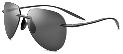 FONEX TR90 Rimless Aviation Sunglasses for Men with Mirror Nylon Polarized Lens 735 - Sunglasses Aviation
