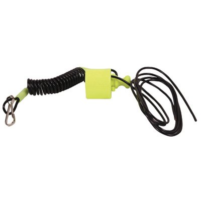 CLIP TYPE HANDLEBAR MOUNT TETHER SWITCH (YELLOW)