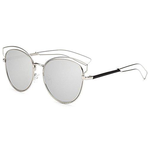 sol gafas Shop ahuecadas sol personalizadas de para gafas colores Gafas metálicos de 6 Tres mujer de de sol películas de sol Gafas 70rf76nqw