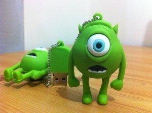 16GB Mini Mike, Wazowski, Monster Inc. Shaped Cute Cartoon USB Flash Drives, Data Storage Device, USB Memory Stick Pen, Thumb Drive from LeenCore