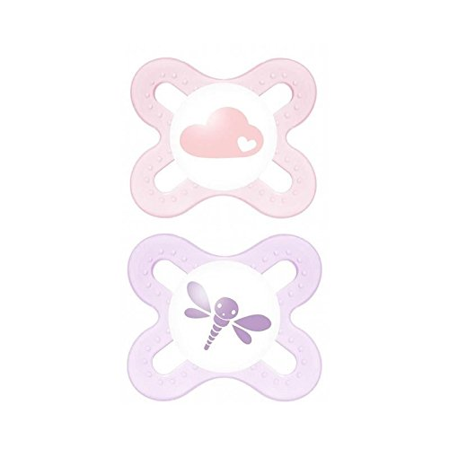MAM Start 0-2 Months Soother, Pink 2 per pack - Pack of 6