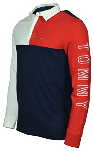 Tommy Hilfiger Men's Long Sleeve Pieced Rugby Shirt - XL - ()