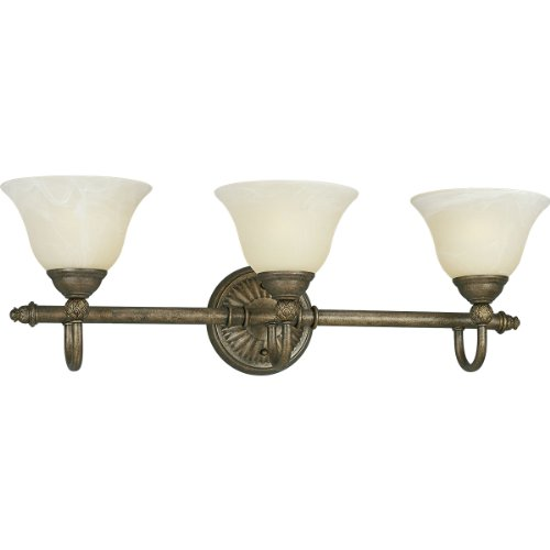 Progress Lighting P3206-86 3-Light Bath Bar, Burnished Chestnut
