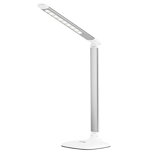 G-Cord Desk Lamp LED Eye-Caring Table Lamp Touch-Sensitive Control, 3 Color Modes with USB Charging Port (White)