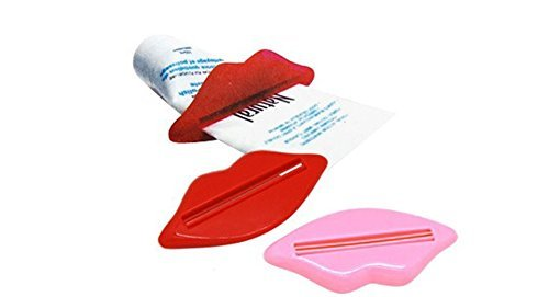 PANYTOW 2 Pcs Bathroom Lip Toothpaste Facial Foam Mildy Wash Squeezer Tube Dispenser Hot