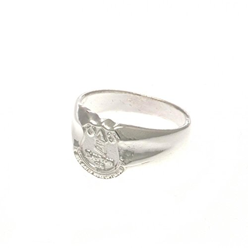 Everton F.c. Silver Plated Crest Ring Small