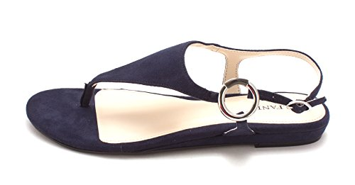 Alfani Womens Honnee Open Toe Casual Ankle Strap Sandals, New Navy, Size 5.0