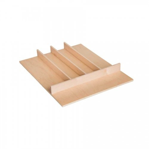 Century Components TTUT18PF Wood Utensil Tray Kitchen Drawer Organizer Trimmable - 18'' x 22'' by Century Components