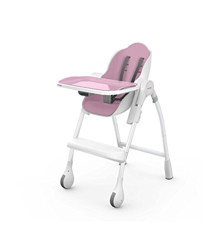 Oribel Cocoon 3-Stage Easy Clean, Contemporary High Chair (Pink)