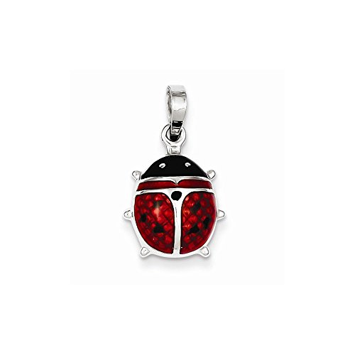 Sterling Silver Enameled Ladybug Pendant