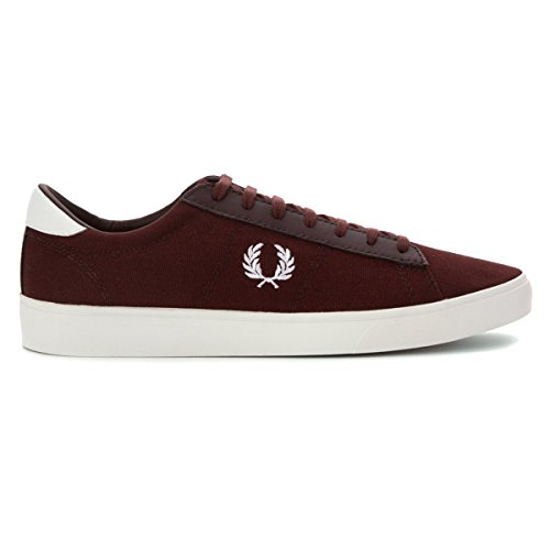 f2a7003f363fd Fred Perry Men's Spencer Canvas/Leather Sneaker Burgundy/White 9.5 ...
