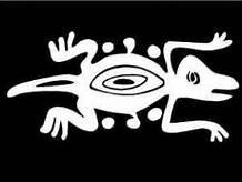 Gecko Lizard Tribal Vinyl Decal Sticker|WHITE|Cars Trucks Vans SUV Laptops Wall Art|5.75