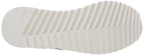 Donna Rwb High 020 Hilfiger Basse Ginnastica Scarpe Sneaker Denim Cleated Bianco da qwFC84