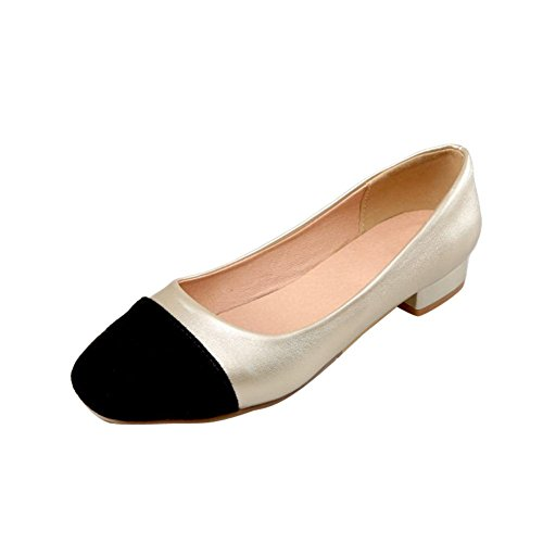Mee Shoes Damen bequem zweifarbig Niedrig slip on Pumps Gold